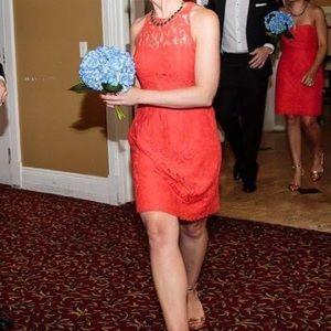 J. Crew Pamela Lace Dress (Poppy) Size 00